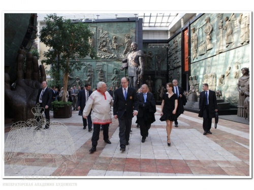 His Serene Highness Prince of Monaco Albert II Visited an Exhibition of the Sculptor Mateo Mornar in Tsereteli Art Gallery