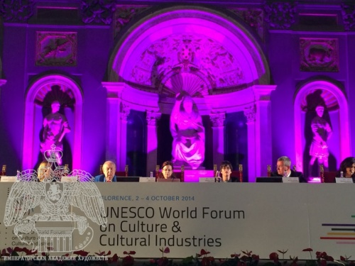 The President of the Russian Academy of Arts Zurab Tsereteli Took Part in the Third Session of the UNESCO World Forum on Culture and Cultural Industries