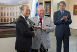 Inauguration of Exhibition of Works of Zurab Tsereteli at UNESCO Headquarters in honor of the 250th Anniversary of the Russian Academy of Arts