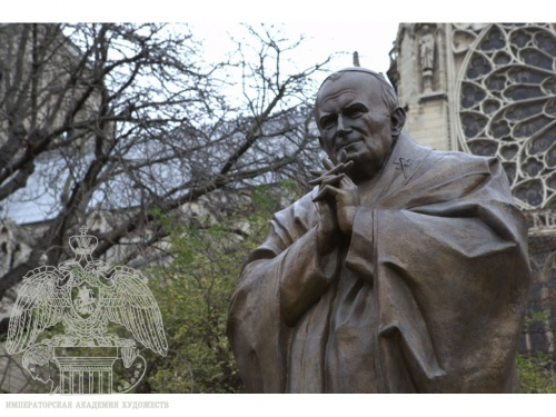 Monument to Pope John Paul II by Zurab Tsereteli Was Unveiled in Paris