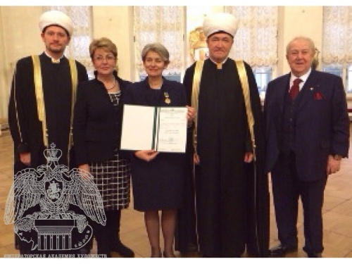 "Zurab Tsereteli Took Part in the Ceremony for Presenting UNESCO Director-General Irina Bokova with the Order of Honor ""Al-Fakhr"""
