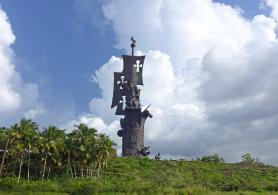 The Construction of the Birth of the New World Monument by Zurab Tsereteli is Being Completed in Puerto Rico